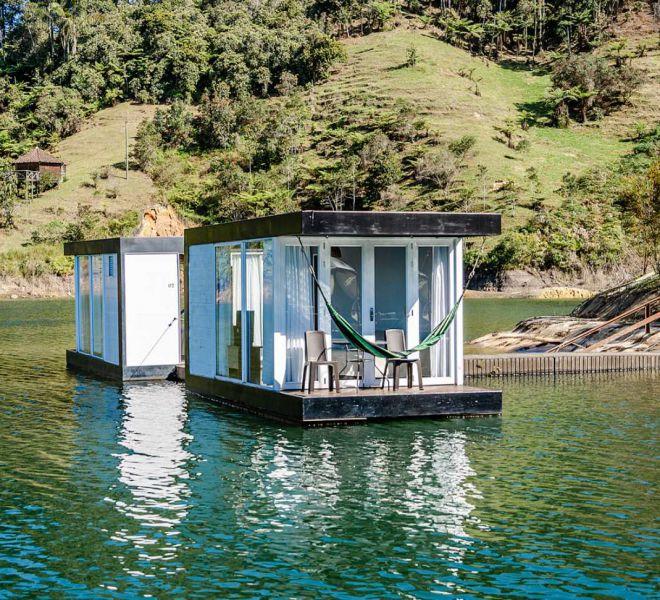 cabana flotante hotel pietrasanta guatape